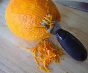 Zu schade zum wegwerfen: Orangenschale